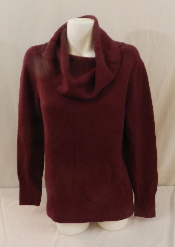 DKNY JEANS Womens Tunic Cowl Neck Pullover Sweater, Casis  Wine Maroon NWT XXL #DKNY #CowlNeck