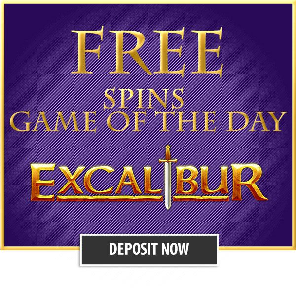 The slot of this week is Excalibur. Make a deposit (min. €