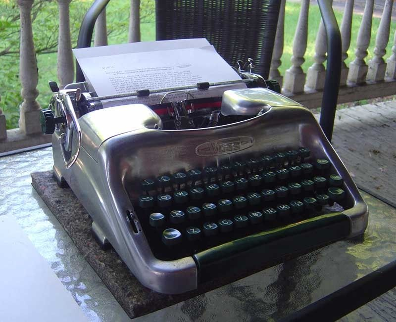 The Typewriter Revolution blog: Reflections on a Voss