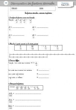 Niveau : cm1 Domaine : Mathématiques Sous-domaine : Numération ***** ***** Voici quelques fiches ...