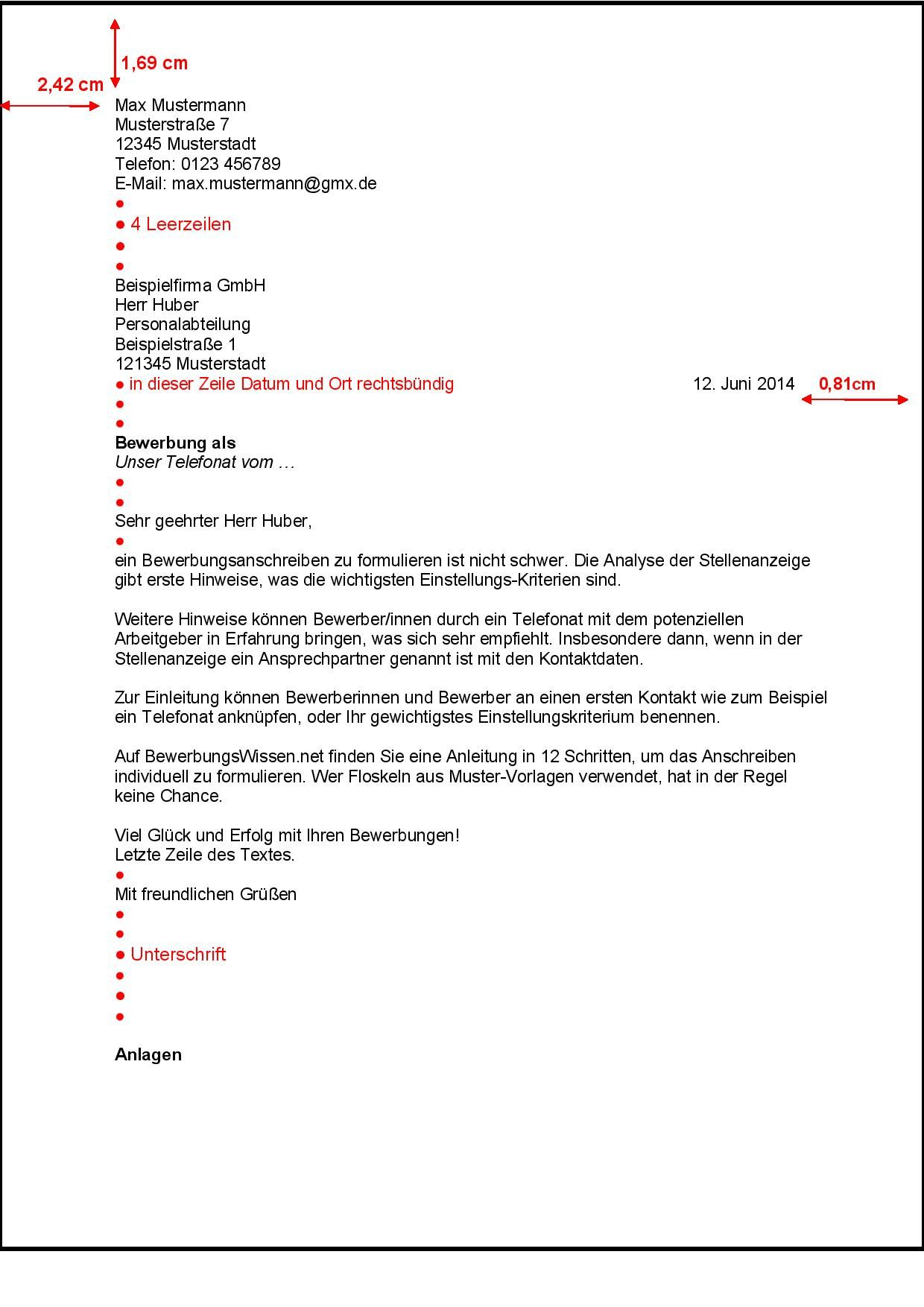 Bewerbungsanschreiben nach DIN 5008 Bewerbung - BewerbungsWissen.net  Personal Branding, Kindergarten, Application Writing