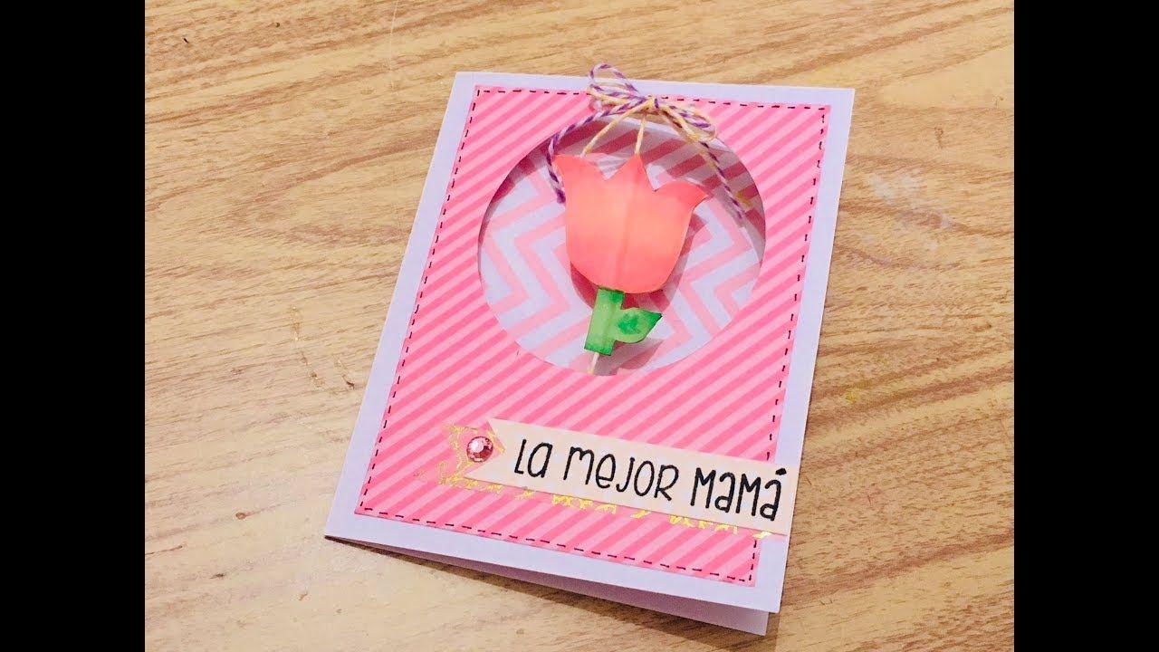 Diy Tarjeta Giratoria Dia De Las Madres 10 De Mayo Mama Dia De Las Madres Tarjeta Imagenes De Cumpleanos