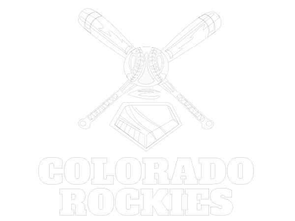 Printable Colorado Rockies Coloring Sheet