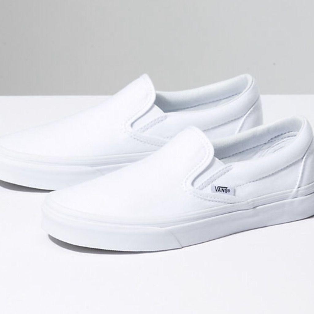 White slide on vans | White slip on vans, Vans shoes girls, Girls ...