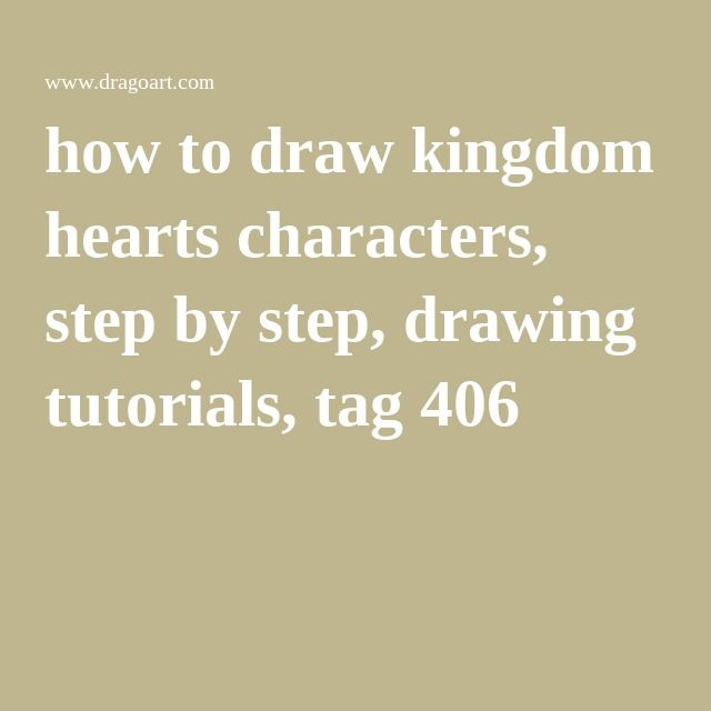 How To Draw Kingdom Hearts Characters Step By Step Drawing