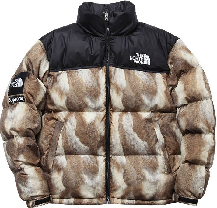 507fbda9e0cf Fur print Supreme x North Face Winter collaboration. I would get it if they  put out a guide version.