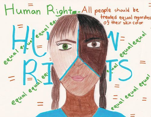 Human Rights Poster Example Declaration Of Human Rights Human Rights Visual Literacy