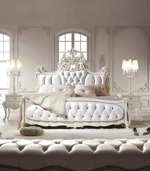White Luxury Bedroom Bedroom Pinterest Bedroom, Fancy bedroom