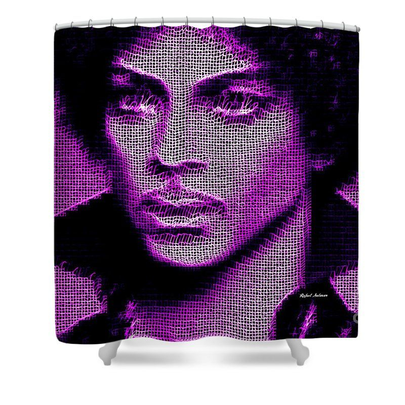 Prince Tribute In Purple Shower Curtain For Sale By Rafael