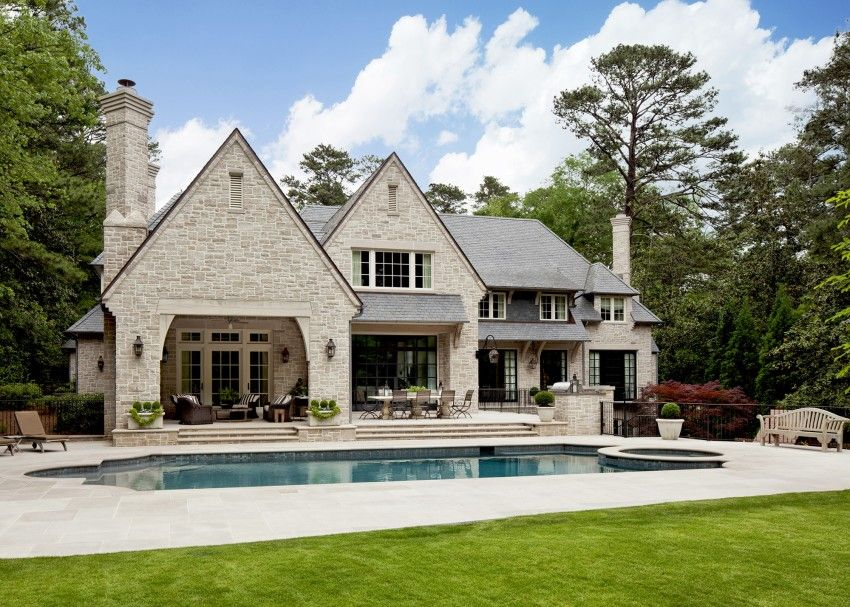 English Style Manor House By Harrison Design Stone Exterior Houses House Architecture Design House Exterior