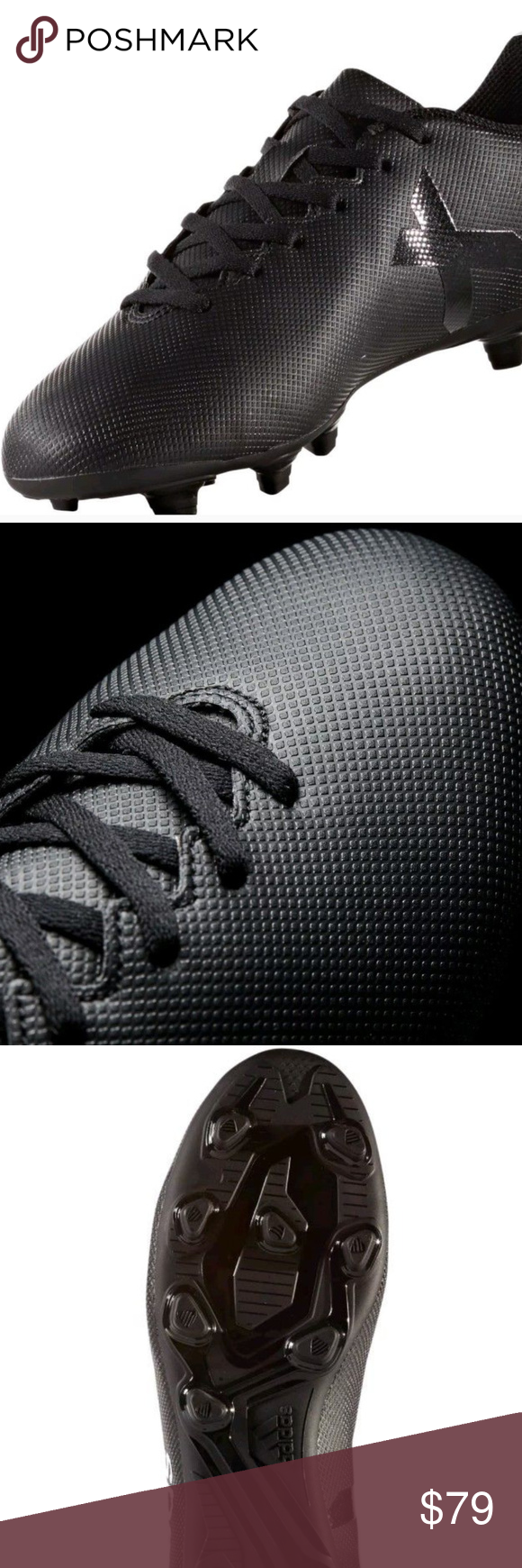 719fab8a687df7 Adidas Men s X 17.4 FG Black Soccer Cleats Size 8 Brand NEW Adidas Men s X  17.4