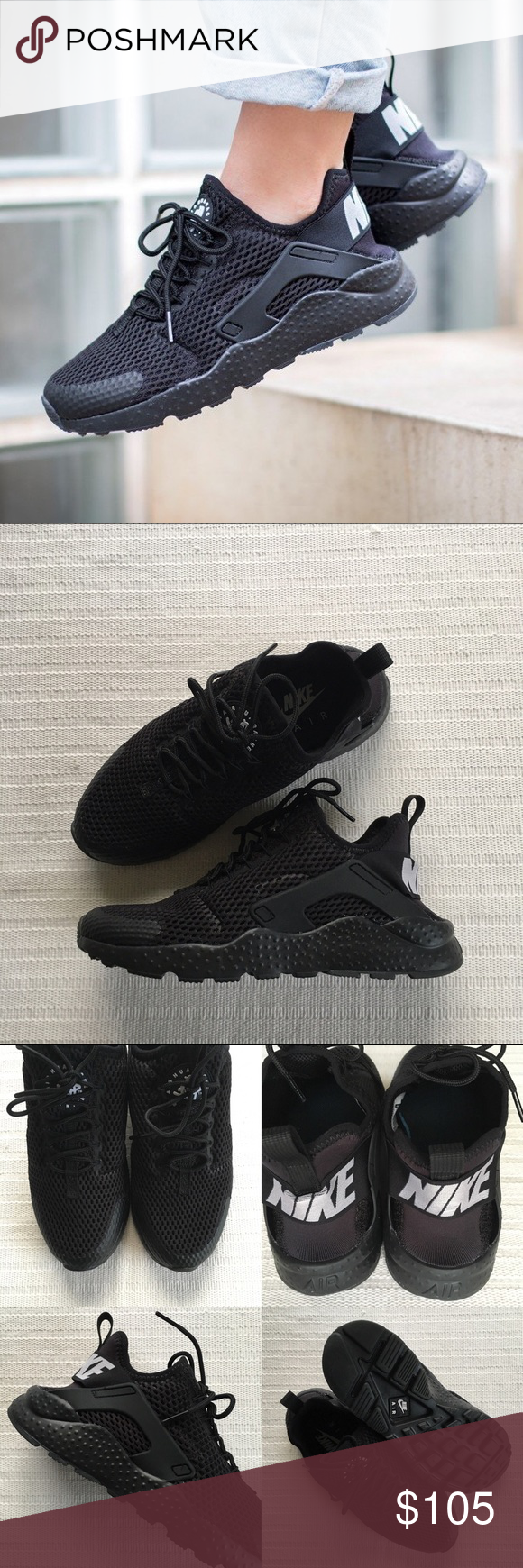 60e6da0f52fa Women s Nike Air Huarache Run Ultra Breathe Black Women s Nike Air Huarache  Run Ultra Breathe Black Style Color  833292-001 • Women s size 7.5 • NEW in  box ...