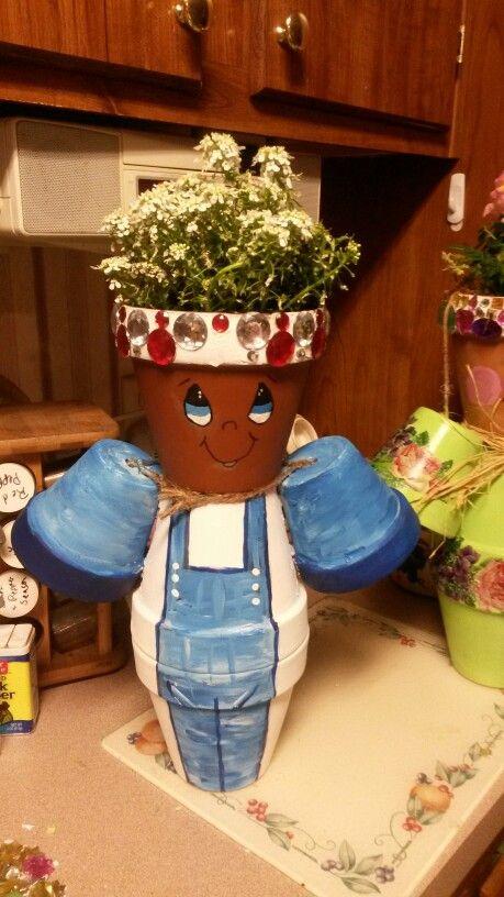 My clay pot little man clay pots pinterest pots d co jardin et v ronique - My little jardin ...