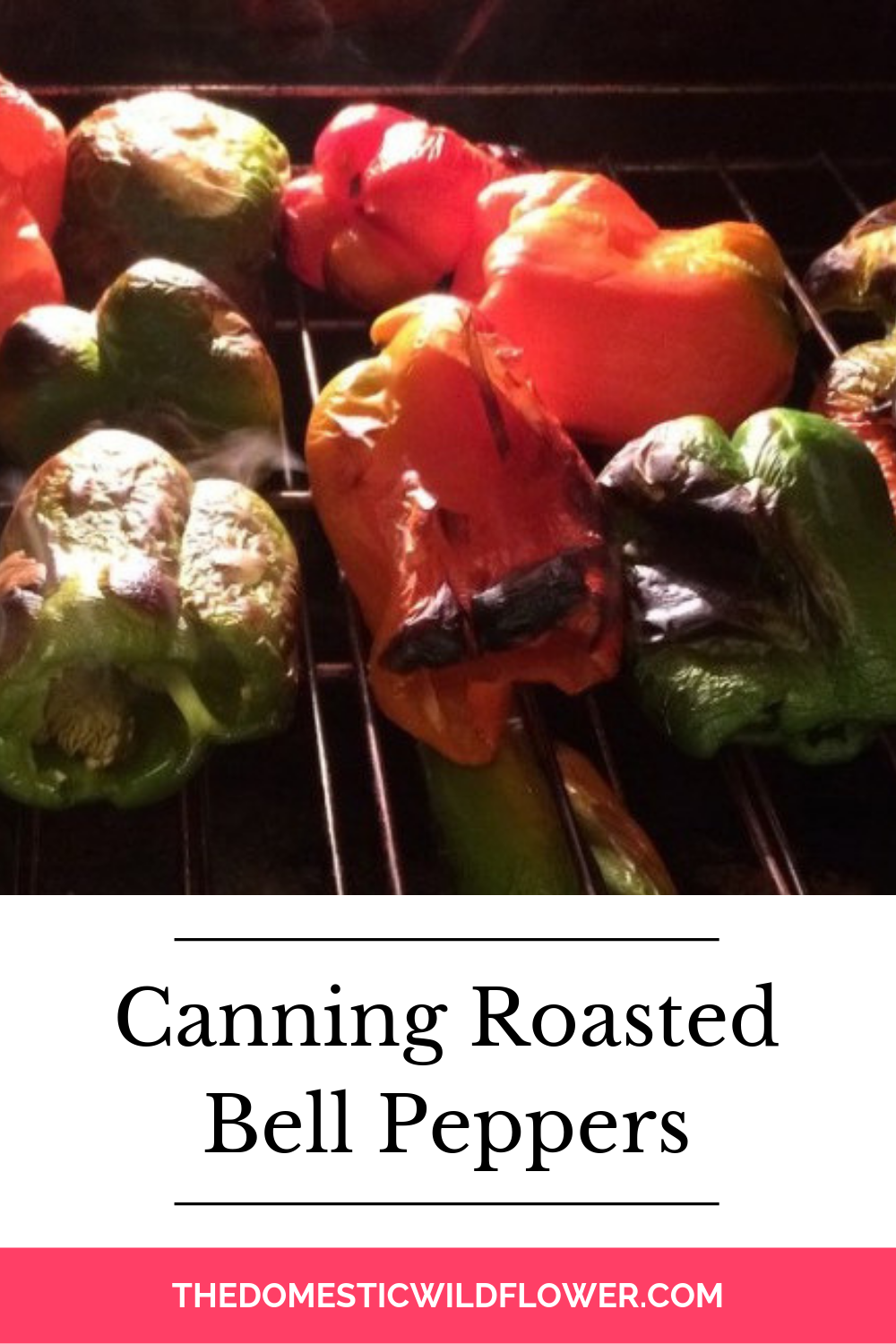 Canning Roasted Bell Peppers #bellpeppers