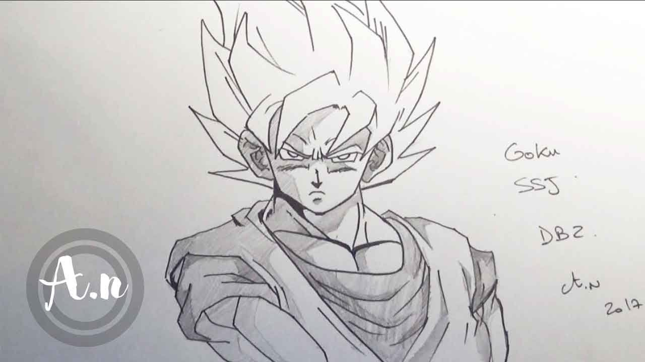 Comment dessiner goku super saiyan speed drawing goku - Dessin de sangoku super sayen 9 ...