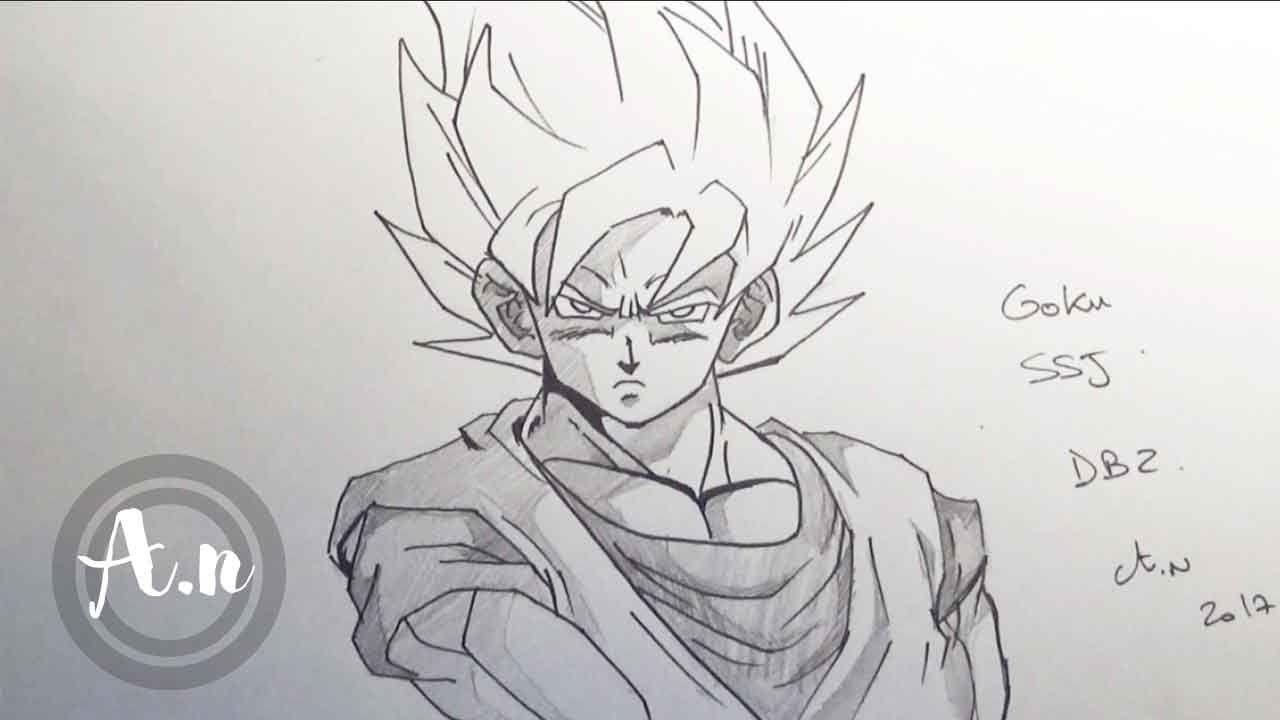 Comment Dessiner Goku Super Saiyan Speed Drawing Goku Ssj Comment Dessiner Goku Goku Super Saiyan Comment Dessiner