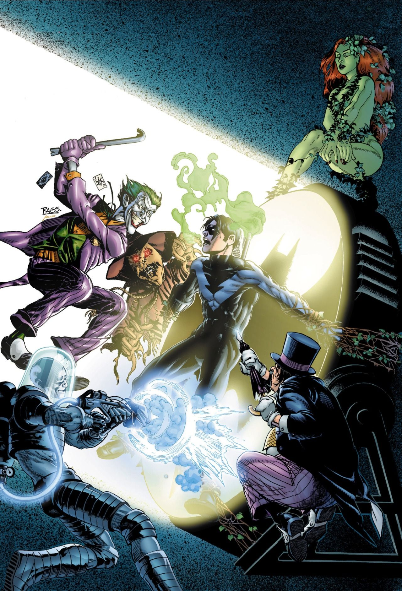 Nightwing Vs Gotham Villains Rags Morales With Images
