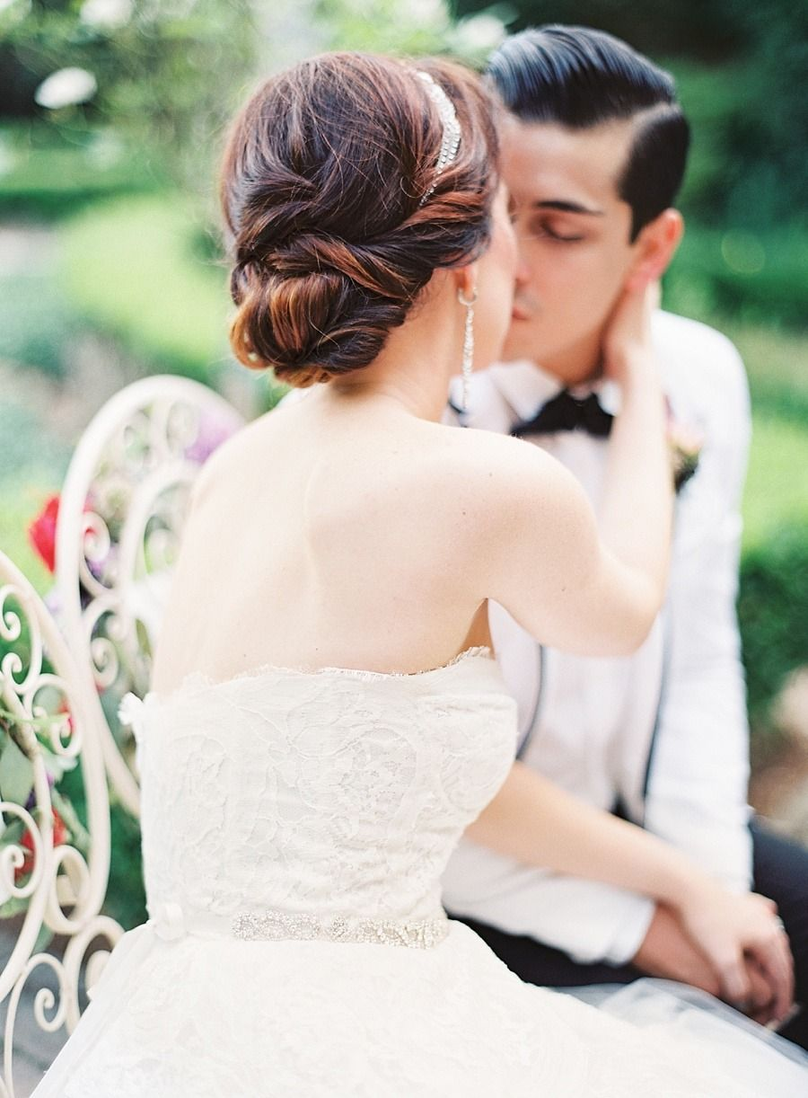 Twisted chignon #hairstyles View entire slideshow: 15 Best Bridal Buns on http://www.stylemepretty.com/collection/539/ | Photography: Marissa Lambert - marissalambertphotography.com