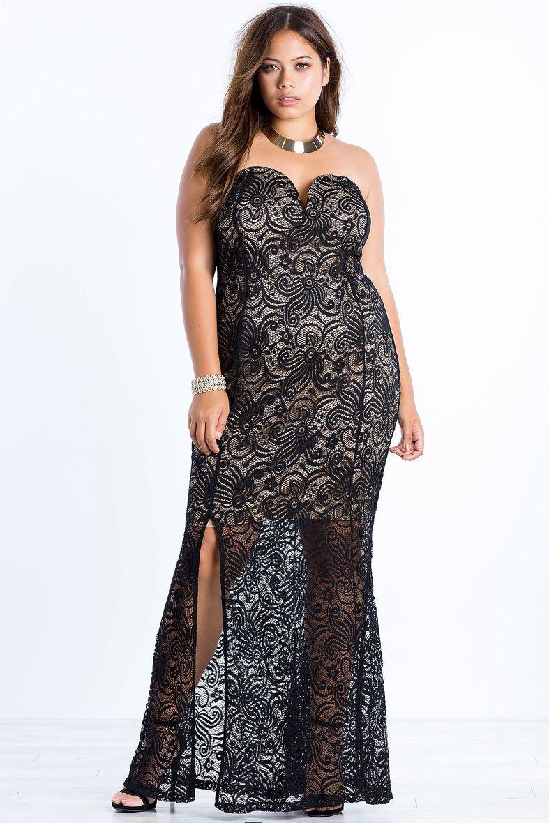 A'GACI | Celia Lust Lace Maxi Dress | #AGACIPlus | A'GACI Plus+ ...