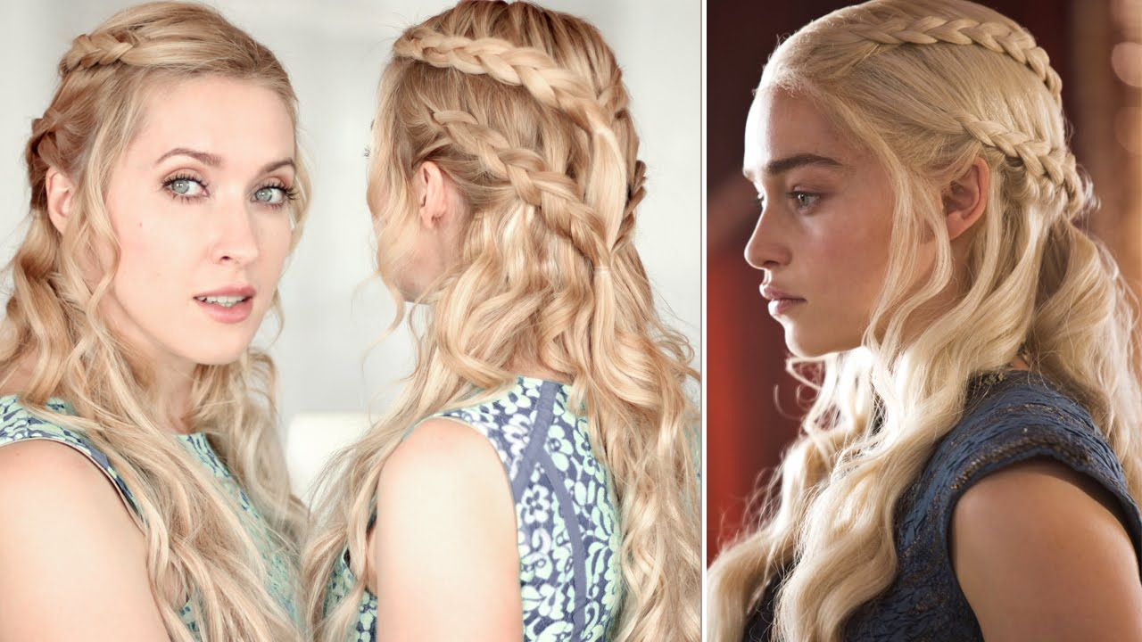 Game Of Thrones Hair Tutorial Khaleesi Daenerys Braid Hairstyle Khaleesi Hair Hair Tutorial Braided Hairstyles