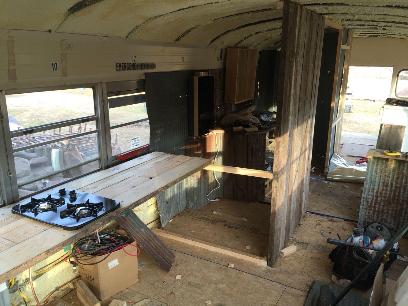 Reclaimed Wood Kitchen Countertop