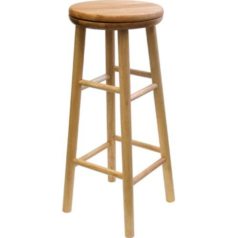 Magnificent Winsome Fremont 31 In Backless Swivel Bar Stool Natural Lamtechconsult Wood Chair Design Ideas Lamtechconsultcom