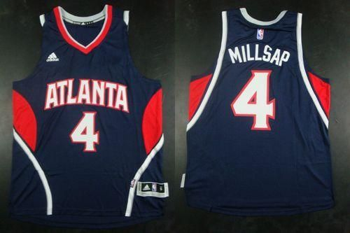 "$26.88 at ""MaryJersey""(maryjerseyelway@gmail.com) Revolution 30 Hawks 4 Paul Millsap Blue Stitched NBA Jersey"