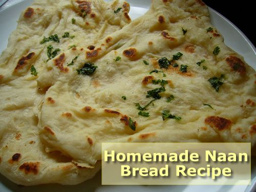 Homemade Naan Bread Recipe- you only need 4 ingredients and its ready in a few minutes... #homemade #recipes #homesteading