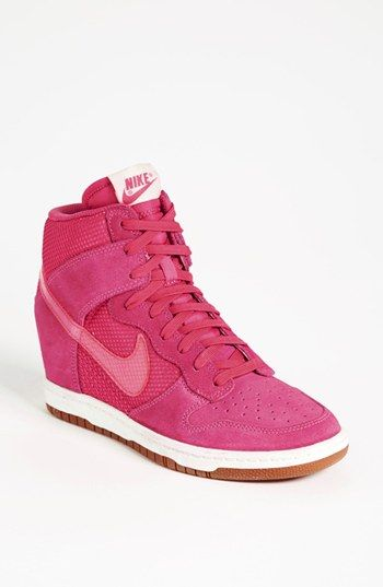 sports shoes 57fb3 74ad4 Pink Nike Dunk Sky Hi Wedge Sneaker (Women) available at - if I did get  wedge sneakers they would have to be PINK and NIKE.