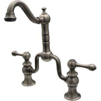 Whitehaus WHTTSLV9772 Twisthaus Bridge Kitchen Faucet, Traditional Short  Spout