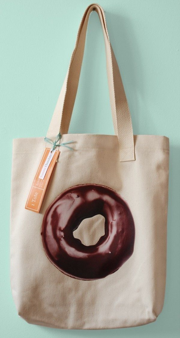 Double Chocolate Donut Canvas Market Tote