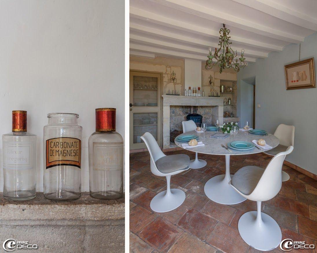 Pots pharmacie chin s dans les brocantes table et chaises tulipe dessin es par eero saarinen - Table pour brocante ...