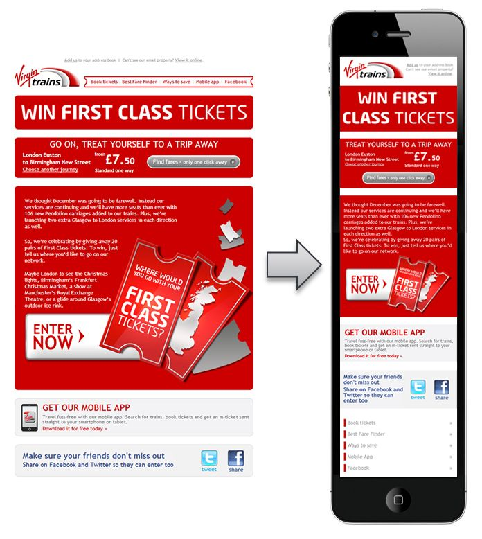 virgin Email mobile