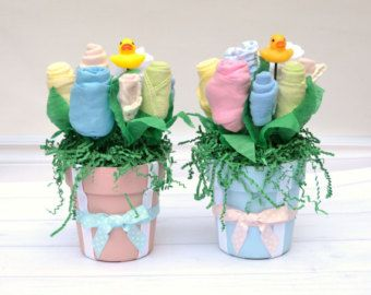 Baby Shower Centerpiece Girl Baby Party Supplies by babyblossomco