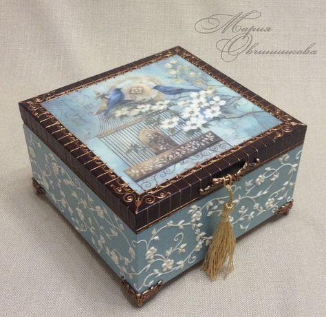 Handmade Decorative Boxes Коробочка 2 …  Pinteres…