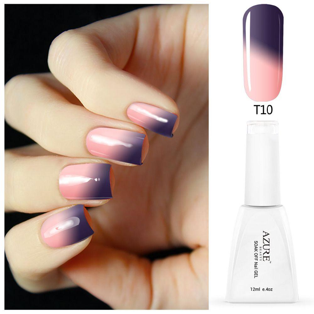 Azure camaleón gel esmalte de uñas cambio de color de temperatura ...
