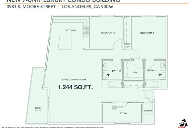 Floorplan 1244 Sf 3981 Moore St 201 Mar Vista Ca 90066 In 2020 Mar Vista Bike Storage Room Floor Plans