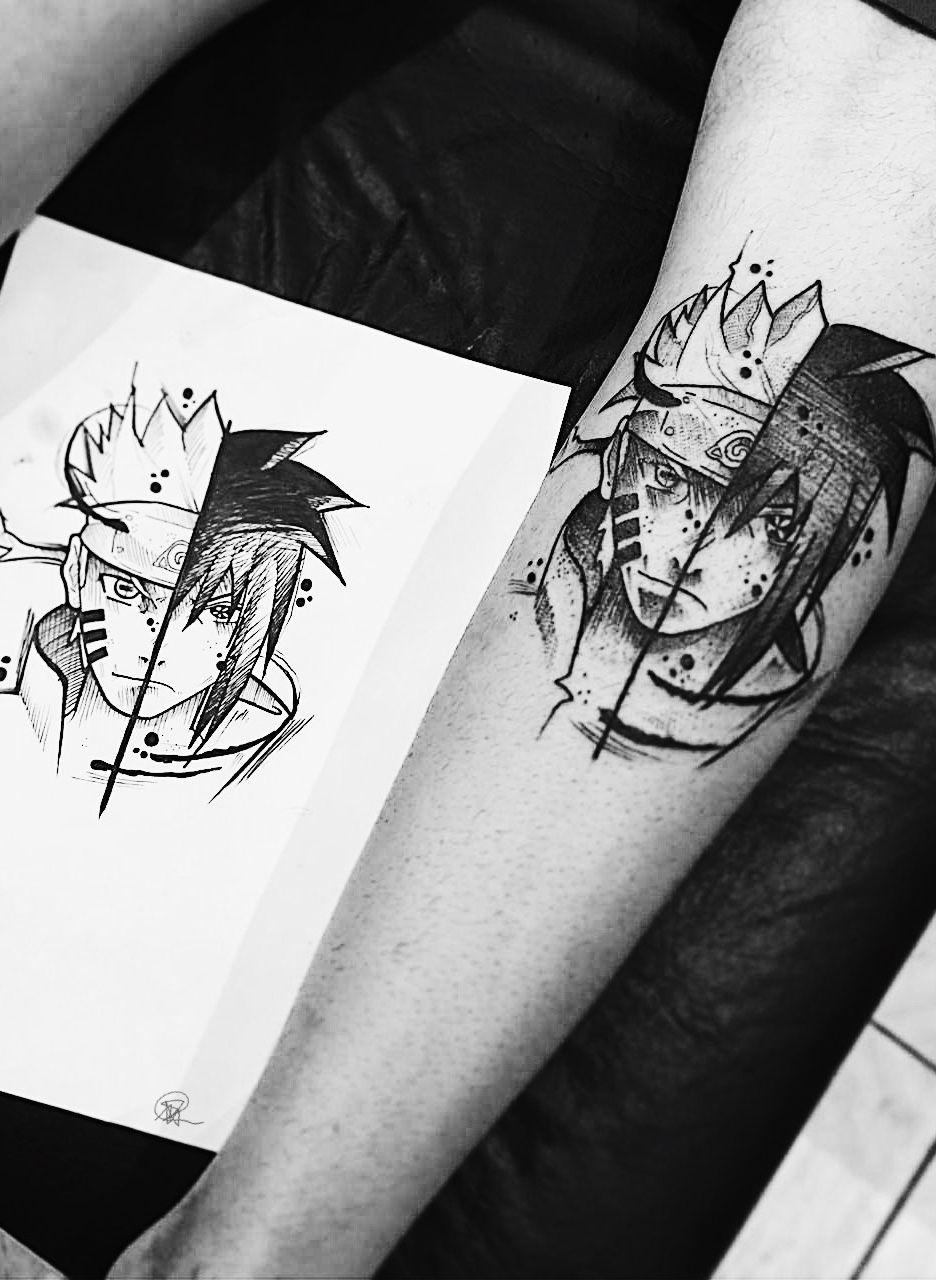 Tattoo Naruto Sasuke Anime Naruto Tattoo Tattoos Anime Tattoos