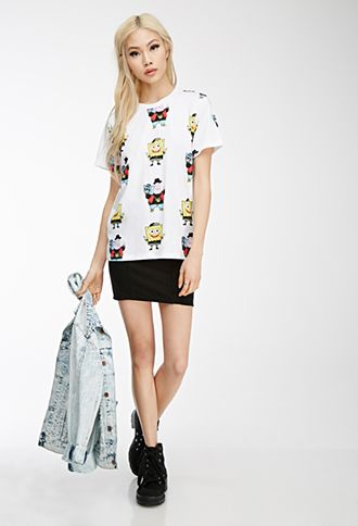 This SpongeBob x Mina Kwon x Forever 21 graphic tee puts a fun spin on SpongeBob and Patrick.