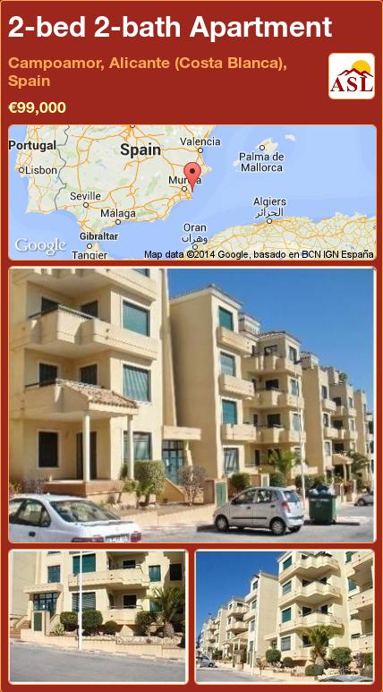 2 Bed 2 Bath Apartment In Campoamor Alicante Costa Blanca Spain 99 000 Propertyforsaleinspain Mallorca Malaga Espana