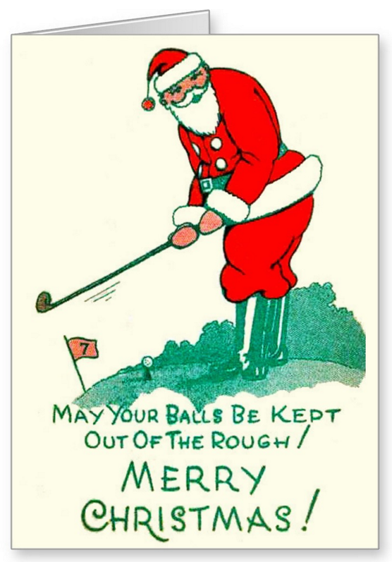 merry golfing christmas card merry and christmas cards