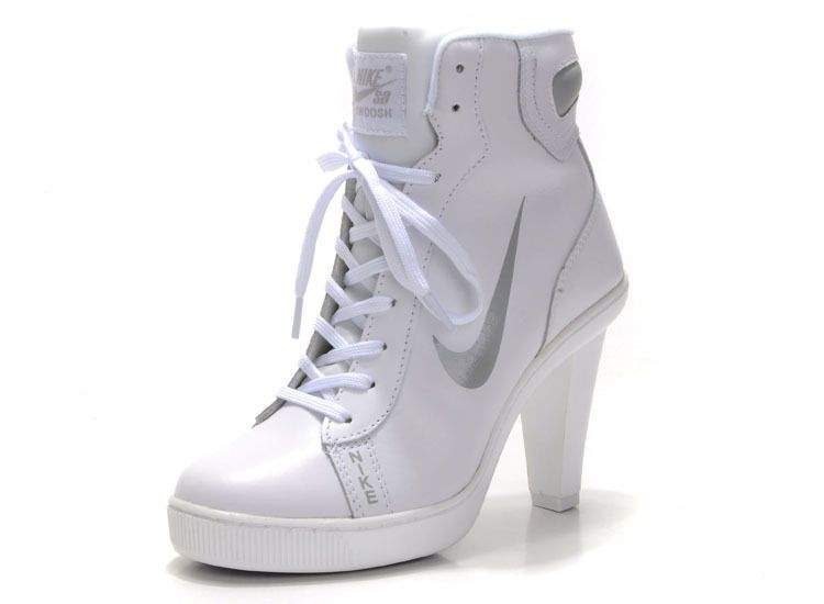 best service 29065 500f1 White Nike Dunk High Heels For Woman For Sale......OMG! Can t wait for  these to arrive!! Hi heel hi-tops, HECK YEAH!