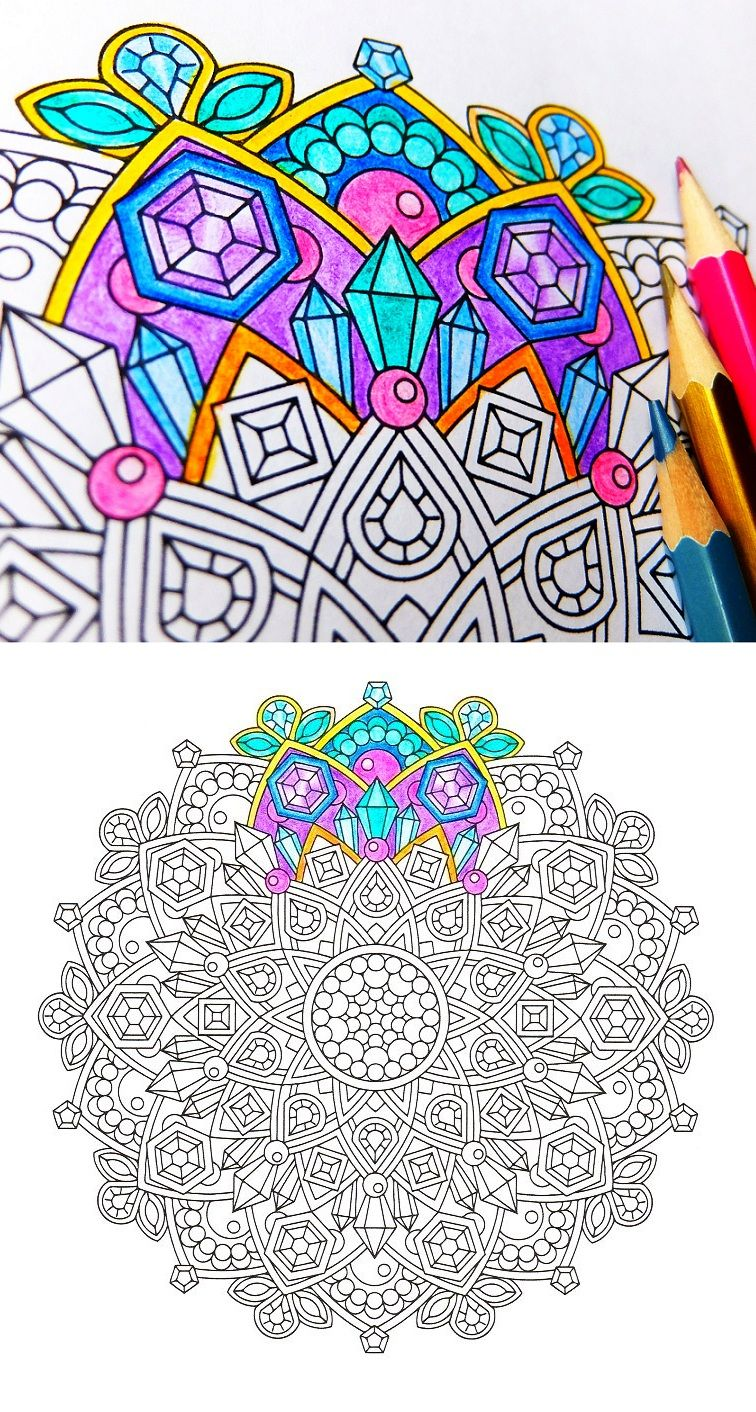 Jewels In The Lotus Mindfulness Coloring Page Coloring Pages