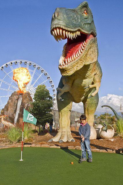 Dinosaur Adventure Golf Clifton Hill Niagara Falls With Images