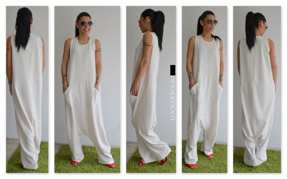 Etsy listing at https://www.etsy.com/listing/217561438/white-maxi-jumpsuit-white-woman-jumpsuit