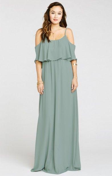 db59d2c434ca8 Caitlin Ruffle Maxi Dress ~ Silver Sage Crisp | Show Me Your MuMu ...