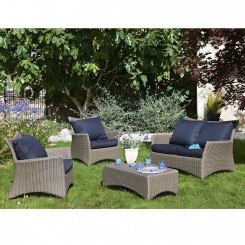 Salon de jardin Luxe TUILERIES 4/5 places en résine tressée de la ...