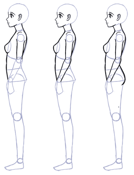 How To Draw Anime Side View Full Body Profile Manga Tuts Drawing Anime Bodies Person Drawing Anime Side View