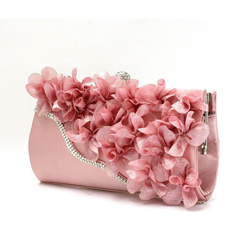 New Color Crystal Evening Day Clutches Flower Wedding Bags Evening Bag Full Dress Party Handbag Bride Bag Purse L Satin Clutch Bag Bride Bag Evening Clutch Bag