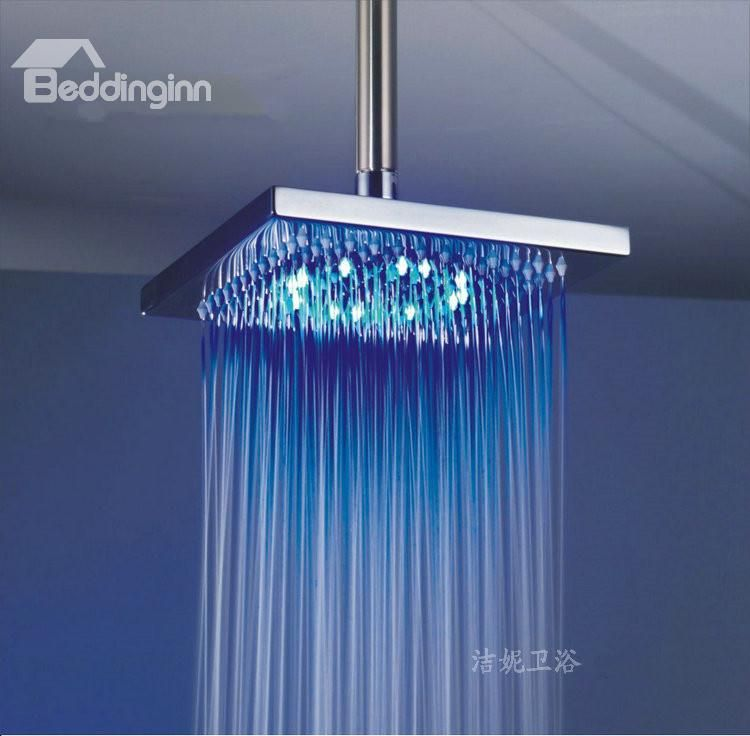 100% Copper High Quality LED Temperature Control Shower Head Faucet